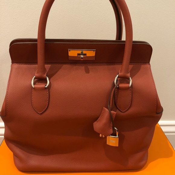 Hermes Handbags - Hermes Toolbox26 (brick color)